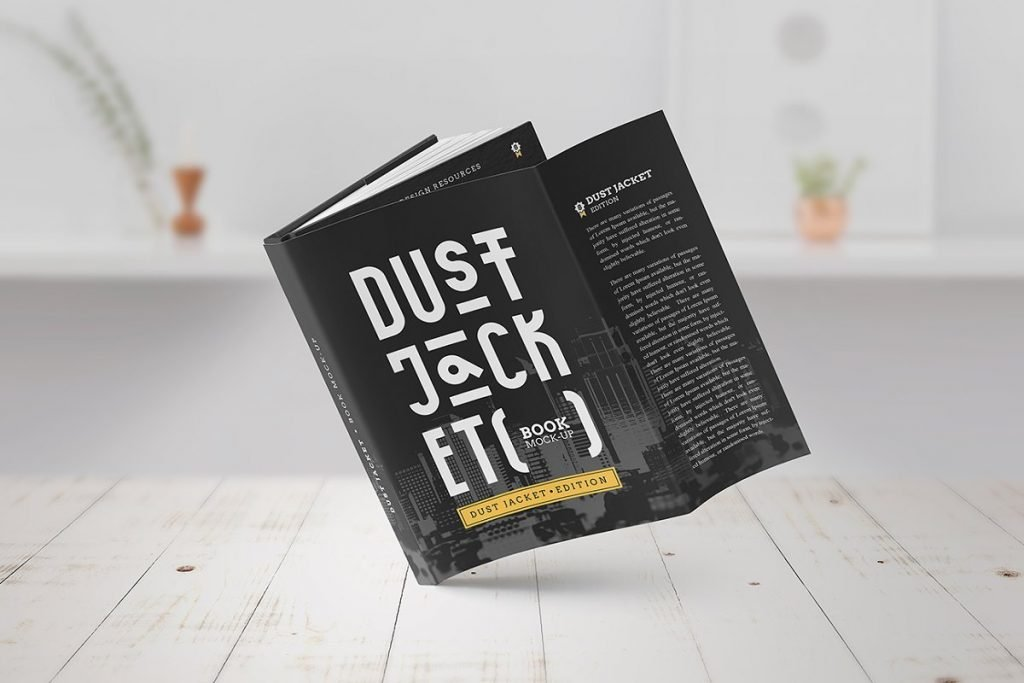 Book Mock Up Dust Jacket Edition