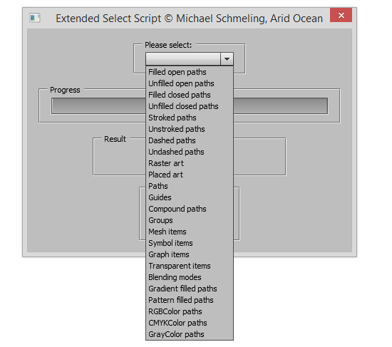 Script Extended Select